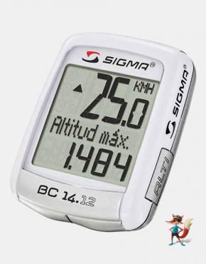 Cuentakilometros Sigma 14.12 con altimetro con cables