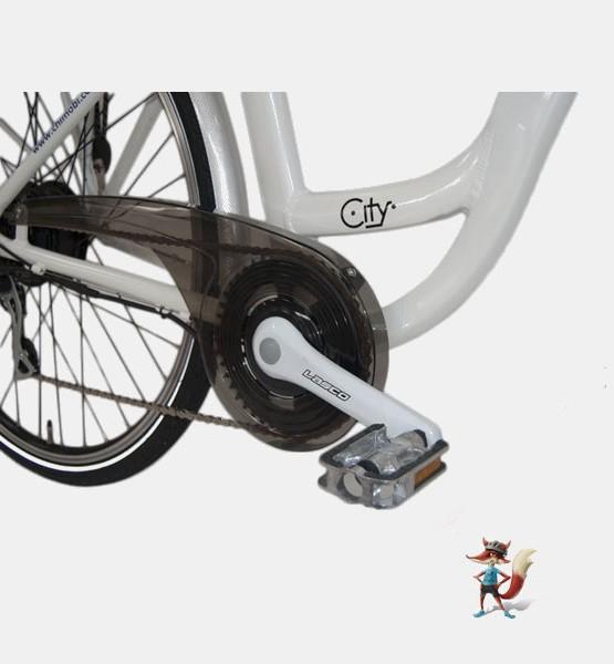 bicicleta electrica paseo city chimobi pedalier