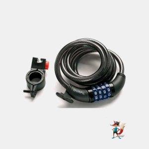 candado cable espiral combinacion gurpil