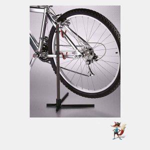 expositor pie bicicleta
