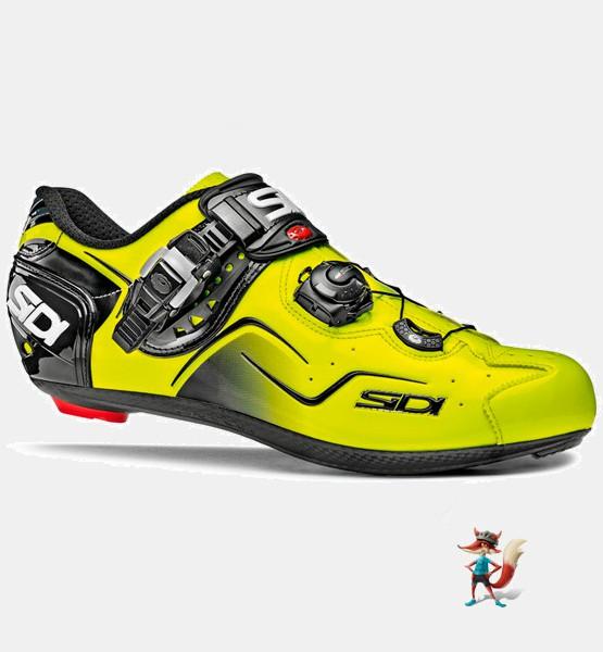 zapatillas sidi kaos bicicleta carretera amarillas