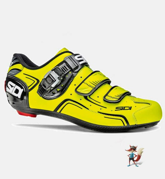 Zapatillas Sidi Level para bicicleta de carretera color amarillo
