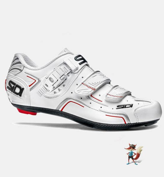 zapatillas sidi level para bicicleta de carretera color blanco