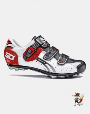 Zapatillas Sidi Eagle 5 Fit para MTB blanco negro rojo