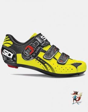 Zapatillas Sidi Genius 5 para carretera negro amarillo fluor