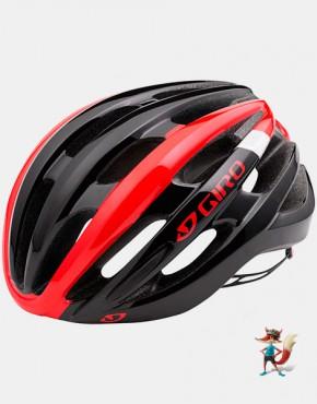 Casco Giro Foray negro y rojo