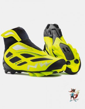 Zapatillas MTB Northwave Celsius Artic 2 GTX amarilla