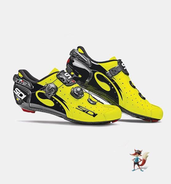 Zapatillas Sidi Wire para carretera negra y amarilla