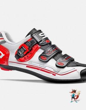 Zapatillas Sidi genius 7 blanco negro rojo