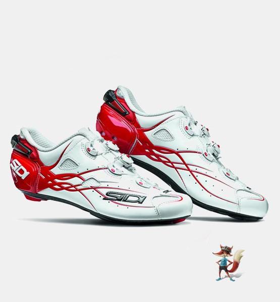 Zapatillas Sidi Shot blanco rojo