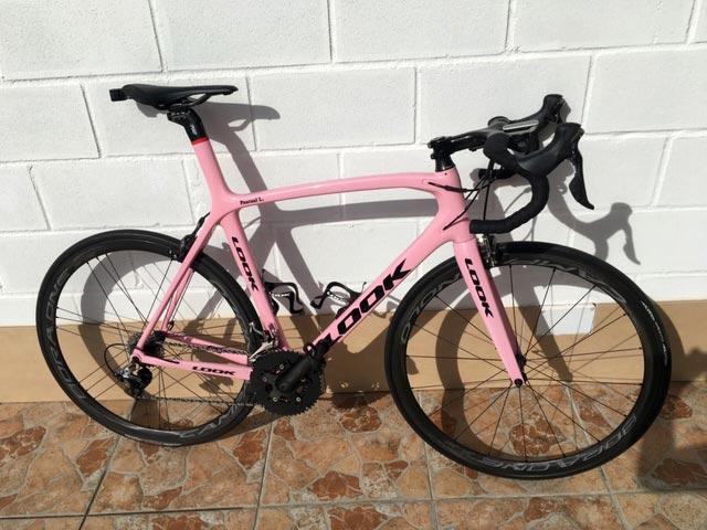 Bicicleta carretera Look rosa