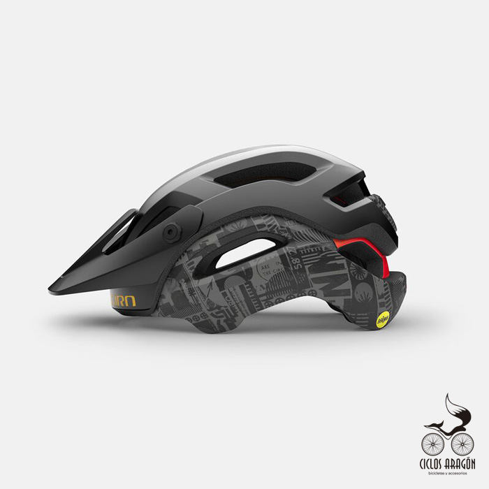 casco giro manifest spherical mips negro amarillo